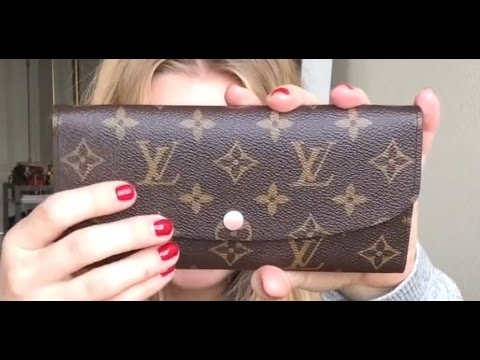 9726bbba32507 Louis Vuitton Emilie Wallet Review + Wear and Tear - YouTube