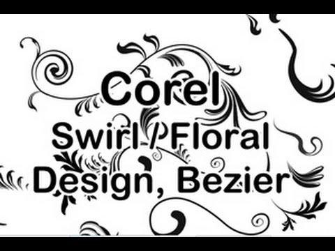 Corel Swirl Design Florale Ornamente