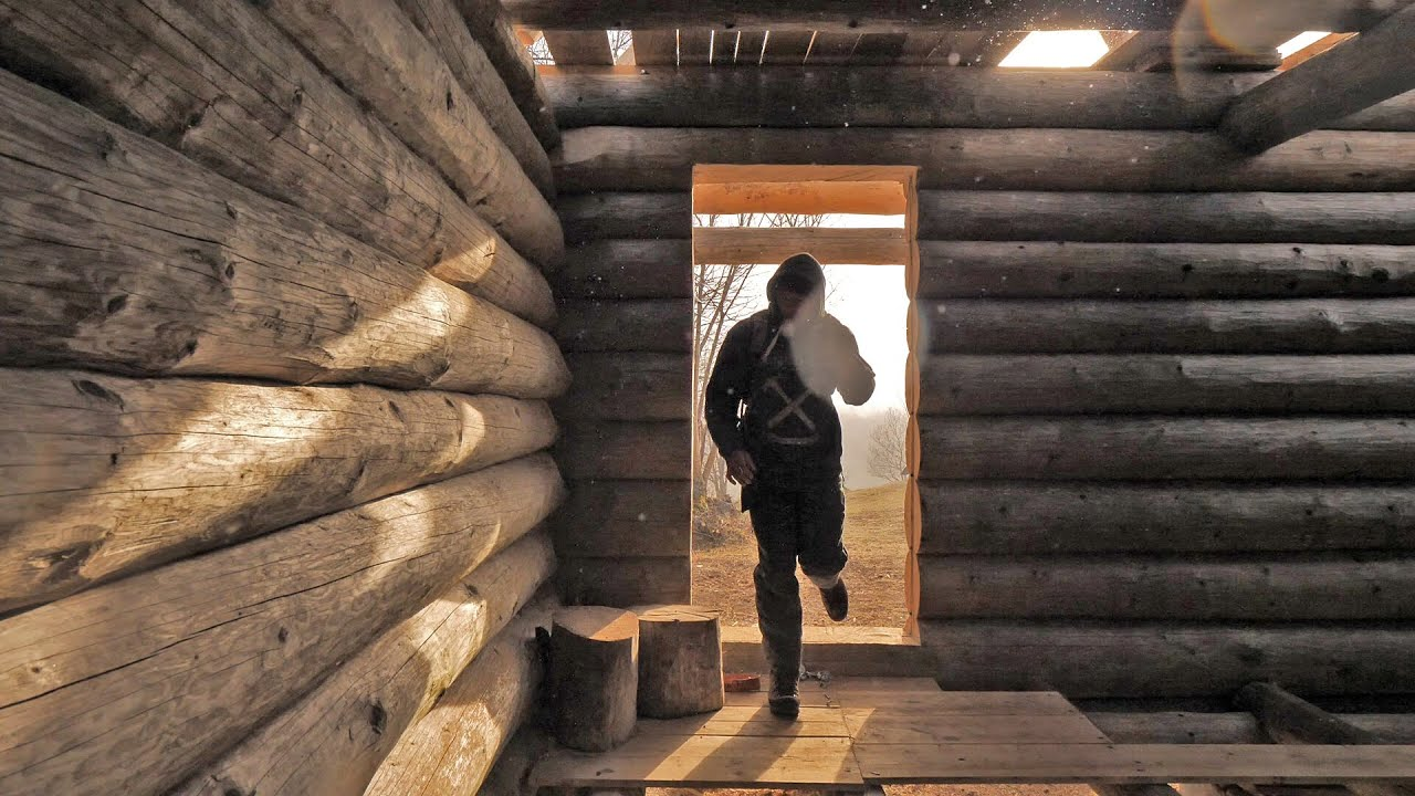 Building Off Grid Log Cabin Ep 5 Your Body Is Your Most Important Tool Preparing Logs Youtube