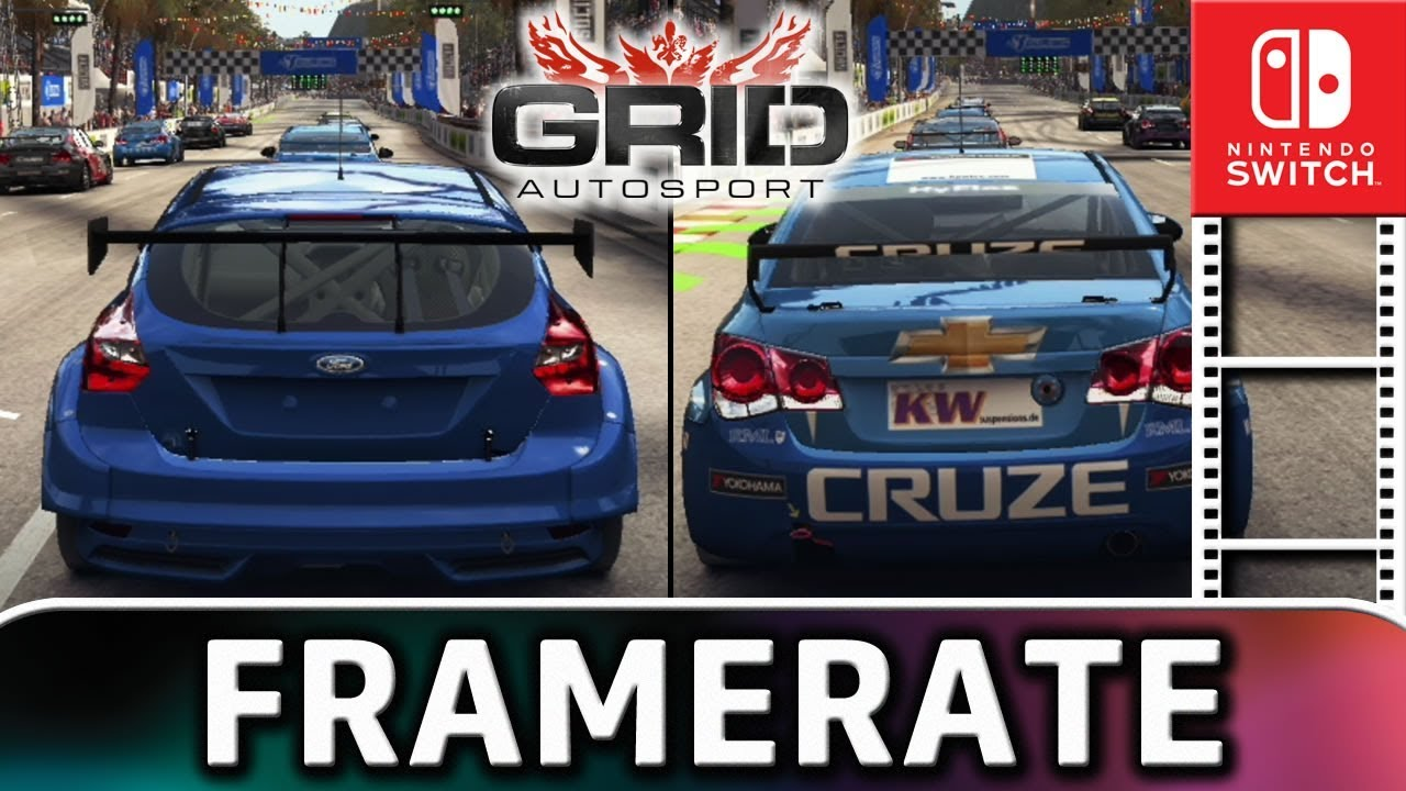 GRID Autosport | Two player Split-Screen Frame Rate TEST on Nintendo Switch