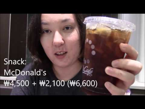 FOOD COST PER DAY IN SEOUL | A Day In the Life | October 2016