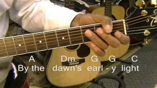 The Star Spangled Banner (Traditional) On Guitar Lesson USA * National Anthem *