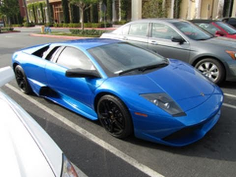 Blue Lamborghini Murcielago Lp640 Youtube