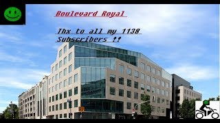 Luxembourg City Boulevard Royal To Kirchberg (25C°) Ducati Super Sport S (HipHop)