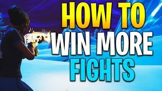 How to win more FIGHTS in Fortnite! How to get better at fortnite! Fortnite tips