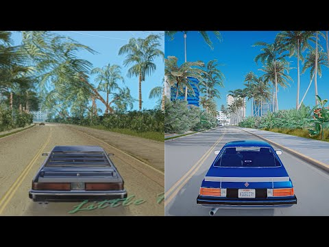 GTA: Vice City 2002 Vs 2020 REMASTER - 4k 60fps Next-Gen Real Life Graphics Ray-Tracing GTA 5 PC Mod