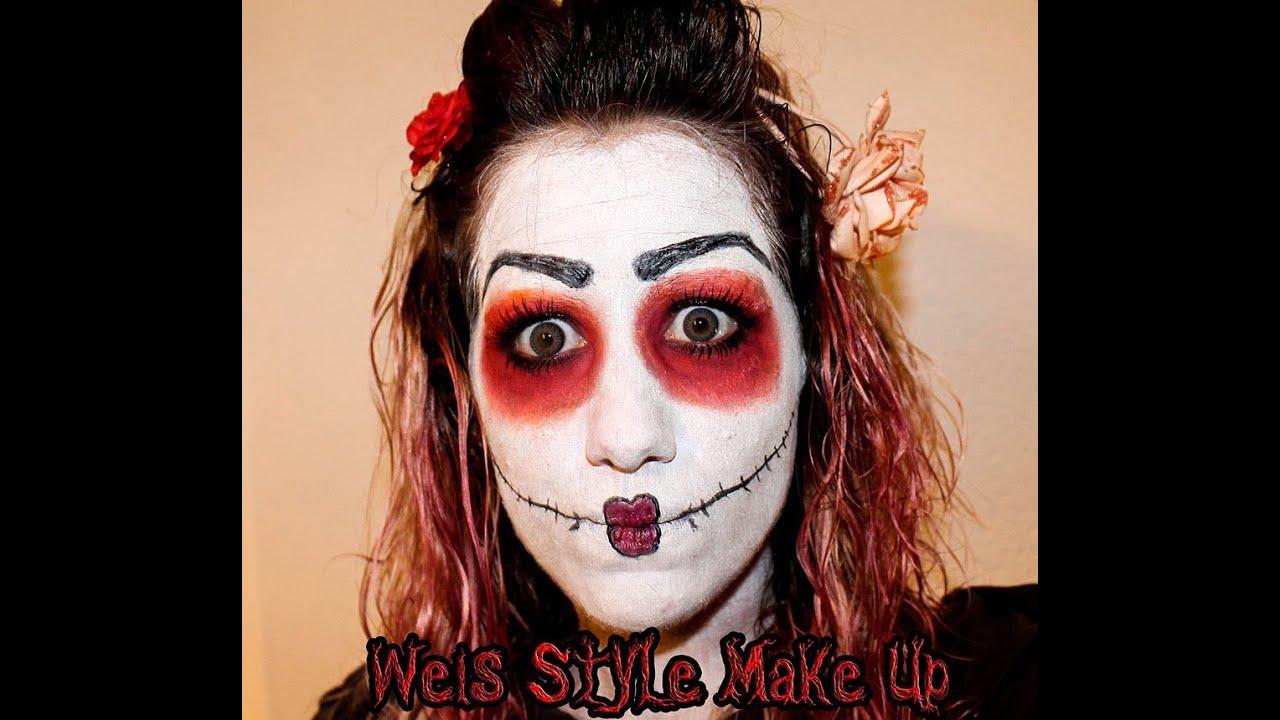 Maquillaje Halloween mueca YouTube