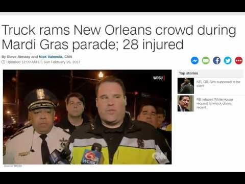 Mardi Gras Truck RAMMING injures 28 in NEW Orleans, What the hell?