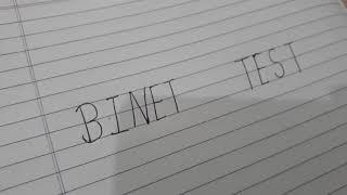 Binet Test By Alfred Binet