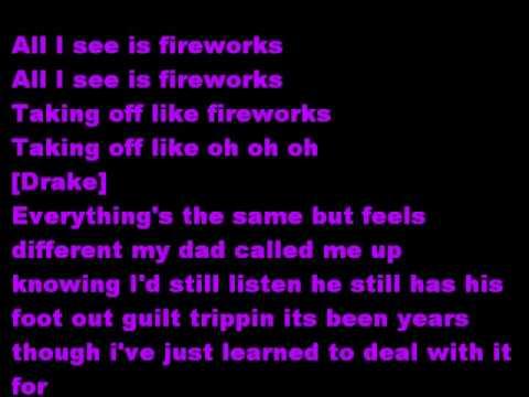 Drake Fireworks w/ Offical Lyrics