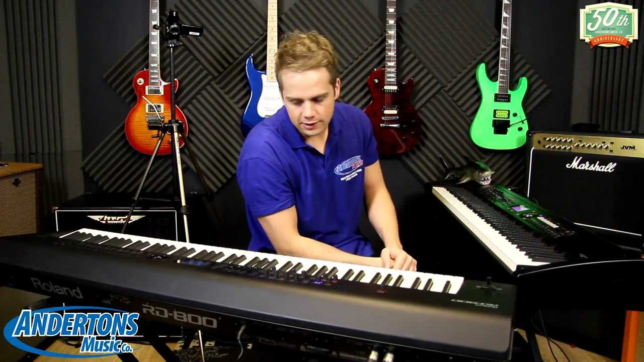 namm 2014 archive andertons exclusive roland rd 800 digital stage piano youtube. Black Bedroom Furniture Sets. Home Design Ideas