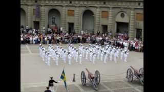 Figurative program by The Royal Swedish Navy Cadet Band at Changing of Guards 23rd of June 2013