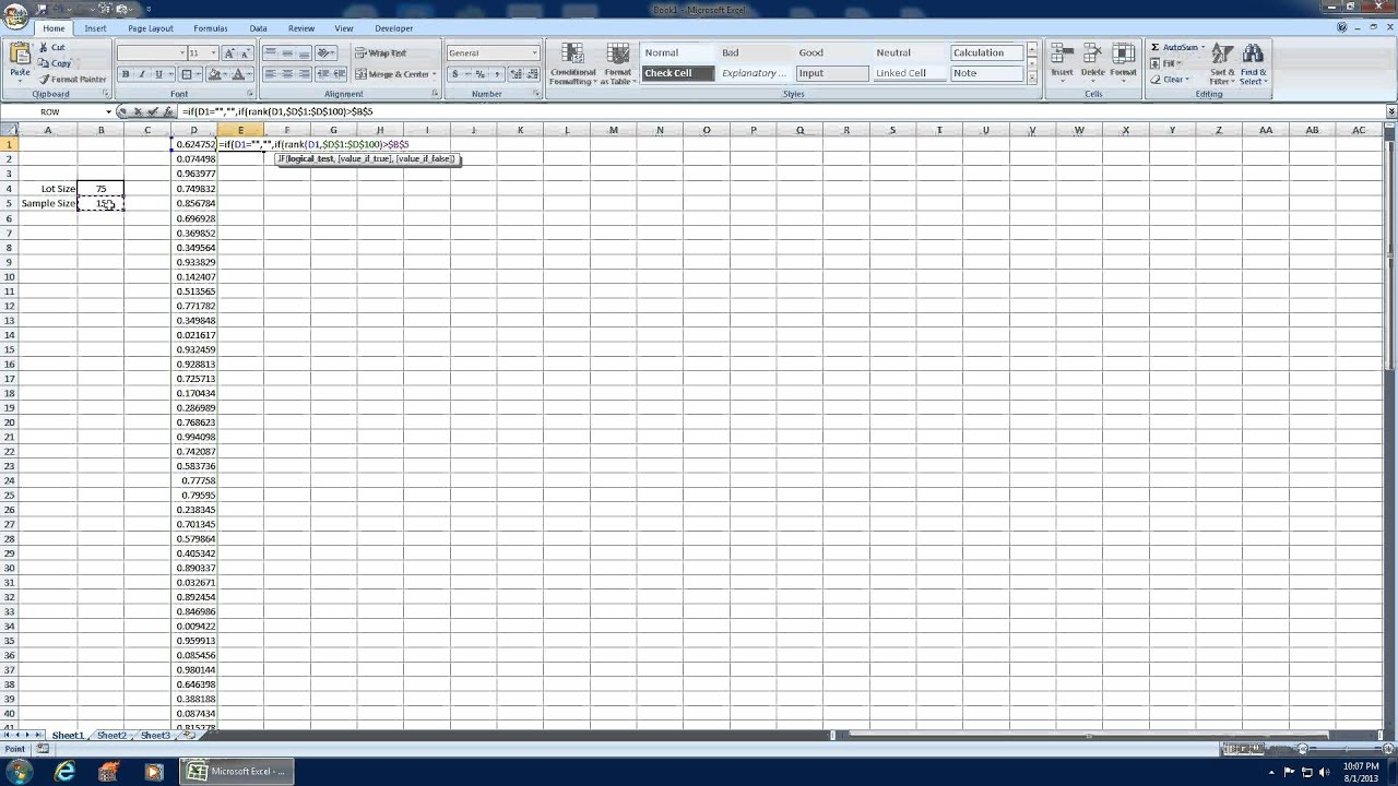 excel random number generator no repeats numbers in order youtube