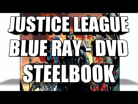 Justice League DVD Blu Ray Steelbook Cover Released streaming vf