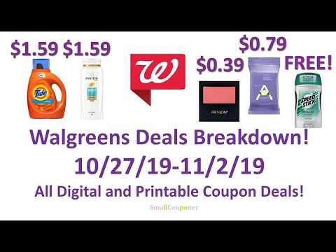 Walgreens Deals Breakdown 10/27/19-11/2/19! All Digital and Printable Coupon Deals!