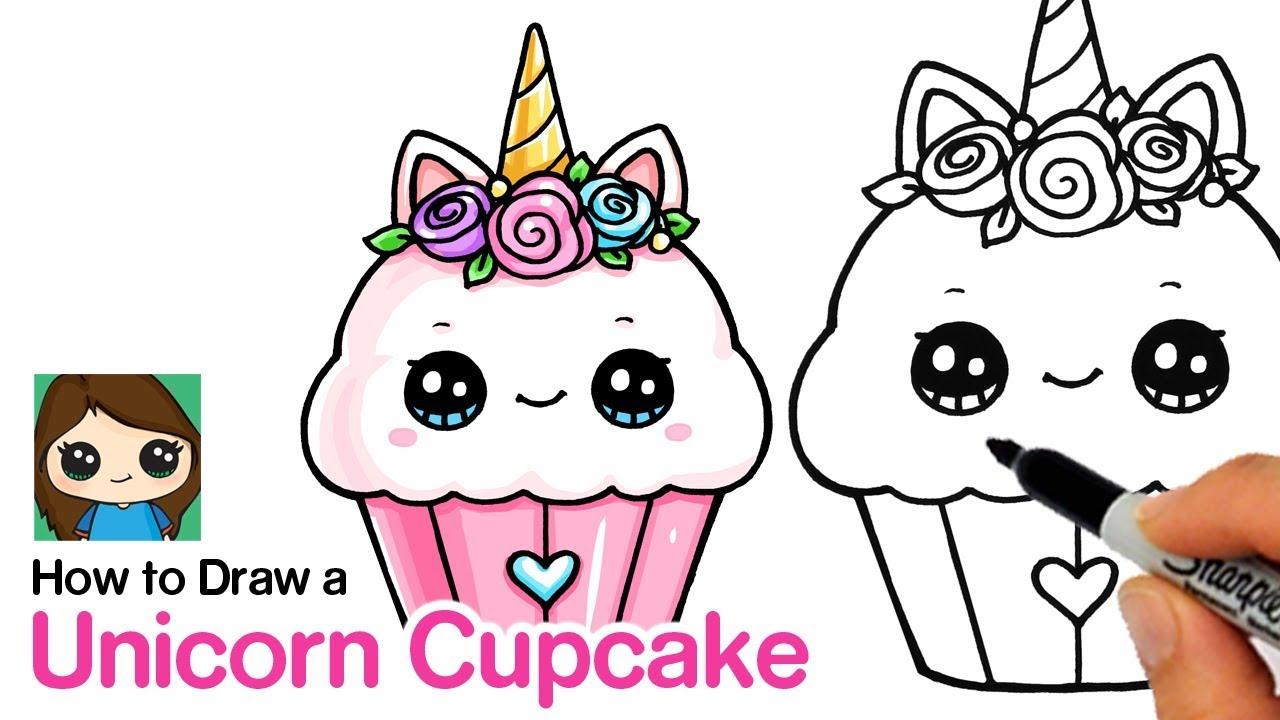 How To Draw A Unicorn Cupcake