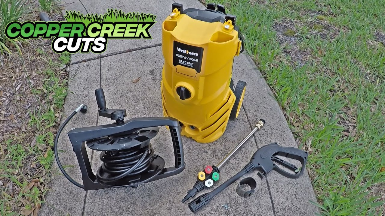 WestForce Electric Pressure Washer (Versus Dirty Driveway & Curb)