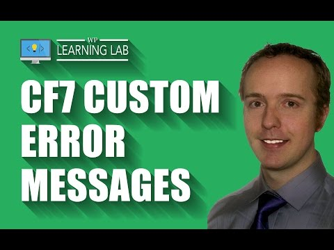 Contact Form 7 Validation With Custom Error Messages | Contact Form 7 Tutorials Part 8