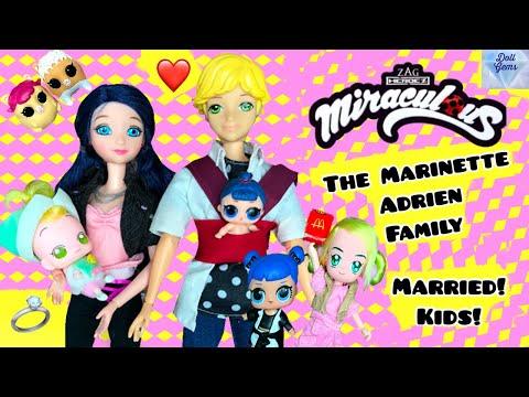 Marinette Adrien Married Family LOL Families ! McDonalds Miraculous Ladybug future Season 2 Ep