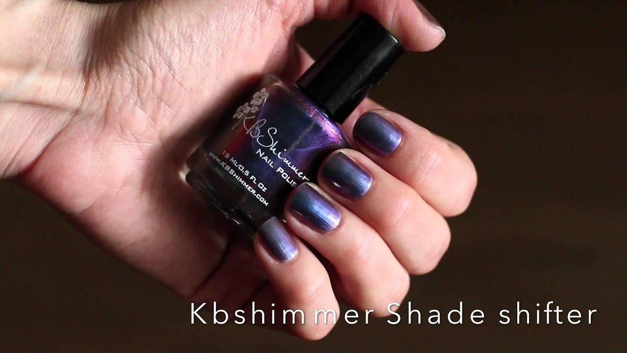 Лак Kbshimmer nail polish in Shade shifter, swatch - YouTube