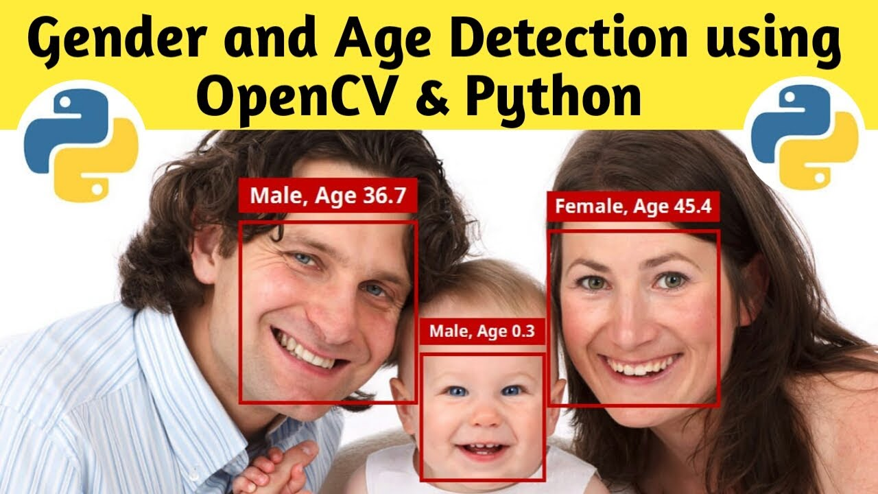 Gender and Age Detection using OpenCV and Python | Gender Detection | Age Detection