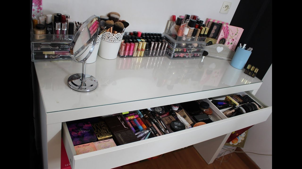 mon rangement et ma collection de maquillage makeup storage youtube. Black Bedroom Furniture Sets. Home Design Ideas