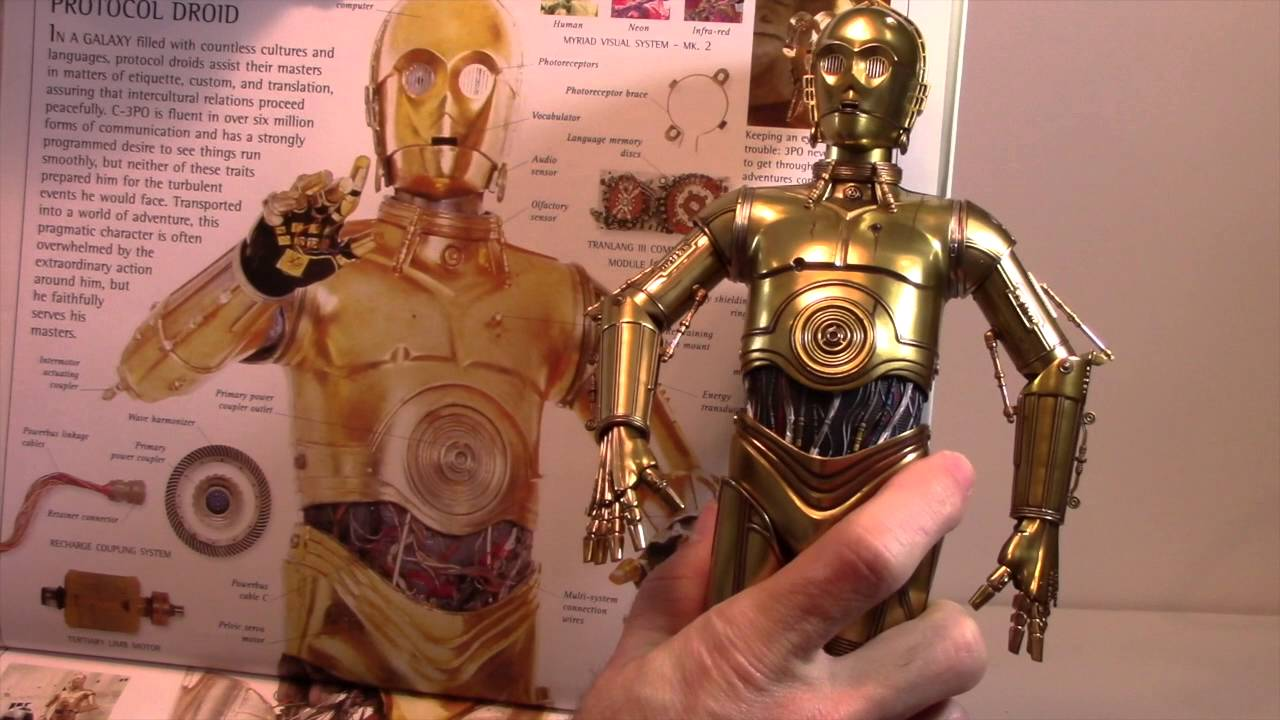 R2d2 And C3po Toys : Sideshow c po and hot toys copper chrome trooper th
