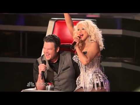 Christina Aguilera (Coaches Performing) - Start Me Up