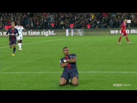 Kylian Mbappe's 4 Goal Performance vs Lyon (H) 18/19