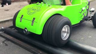 32 Ford Roadster Tot Rod Pro Street Drag Race Hot Rod Testing