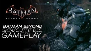 Batman Arkham Knight - Batman Beyond Skin Gameplay (Steam Exclusive DLC)