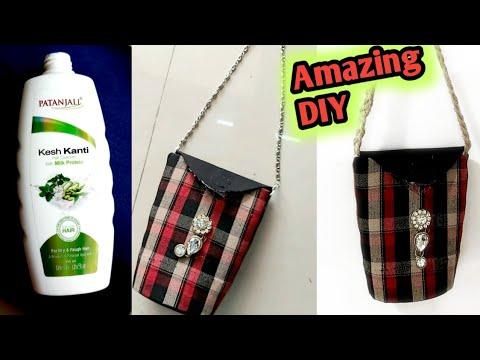 #Shampoo bottle craft idea #Bestoutofwaste shampoo bottle craft #Best reuse of waste plastic bottles