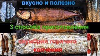 Скумбрия горячего копчения. Рецепт от Дмитрича. 3 способа приготовления. Какая рыба вкуснее.
