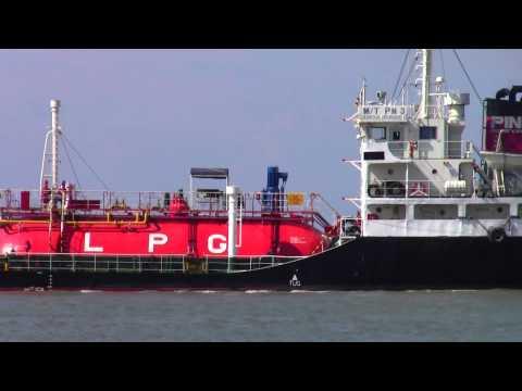 LPG Ship at Songkhla Port, Thailand