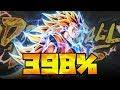 OVERPOWERED! 398% SUPER SAIYAN 3 GOKU SHOWCASE! Dragon Ball Legends