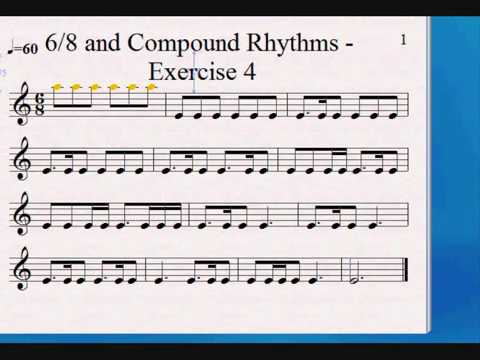 6/8 time signature - How to read compound rhythms - Improved version