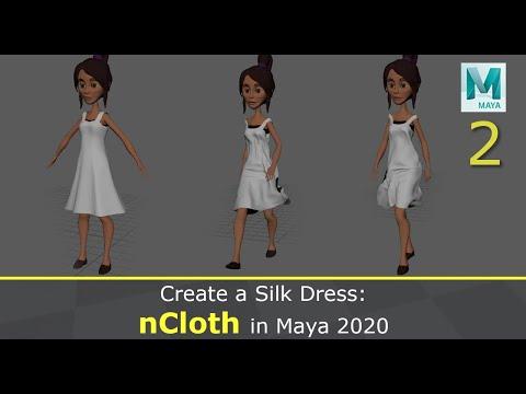 NCloth In Maya 2020: Create A Silk Dress (2/2)