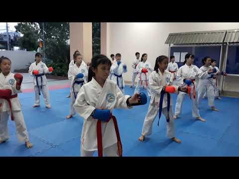 Khởi động nhẹ của clb karate hà huy tập q12
