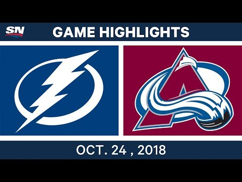 NHL Highlights | Lightning vs. Avalanche - Oct. 24, 2018