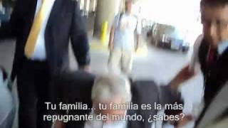 RNWO David Rockefeller confronted at Chilean Airport du.flv