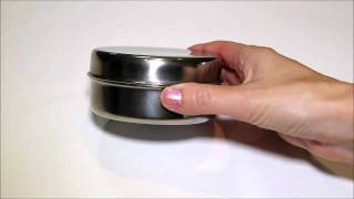 EcoDipper stainless steel small round box