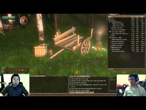 Saturday Night Factional Fight Plays Wurm Online - Episode 3: Building Carts, Barter and Horses!