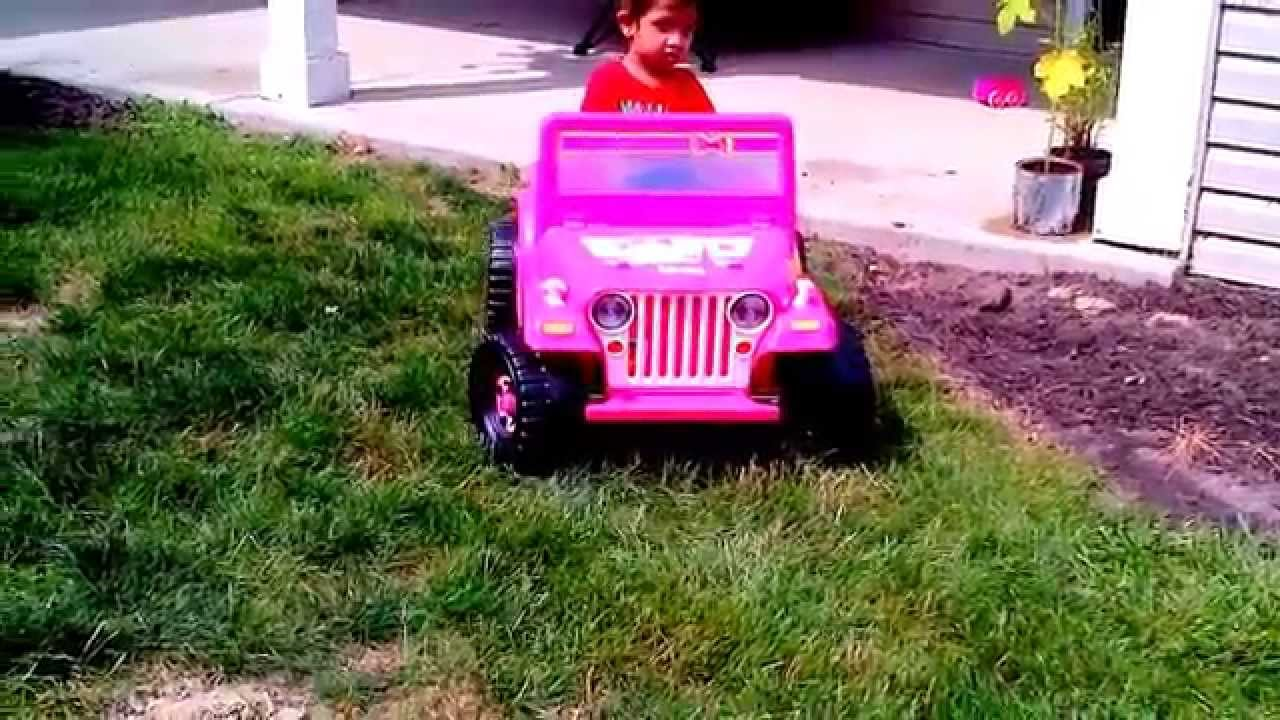 hello kitty coupe 6 volt battery powered ride onpink car kids riding video youtube