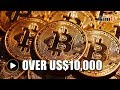 One bitcoin is worth more than US$10,000