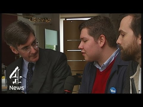 Scottish independence: Jacob Rees-Mogg vs young yes campaigners   Channel 4 News