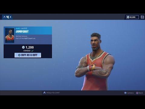 Lebron James NBA Fortnite Basketball Skin (Game Play Showcase) 'JumpShot' Skin Victory Royale WIN