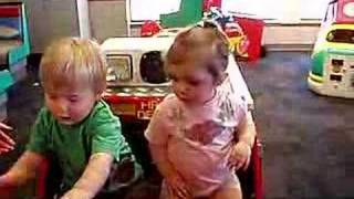 Kendall and Caden at Chucky Cheese