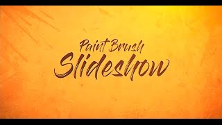 Paint Brush Slideshow After Effects Template