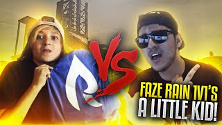 FaZe Rain 1v1's a Little Kid! (IRL)