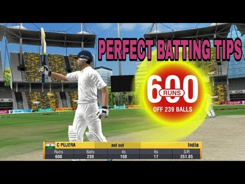 WCC2 Perfect Batting Tips  How to Score 1000 Runs in Test Match